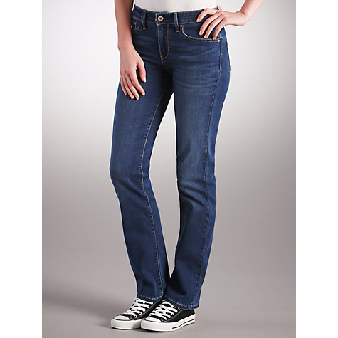 Buy Levi's Curve ID - Demi Curve Straight Leg Jeans, Downpour Online at johnlewis.com