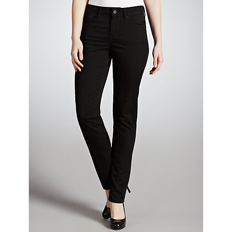 Buy Levi's Curve ID - Slight Curve Slim Leg Jeans, Pitch Black Online at johnlewis.com