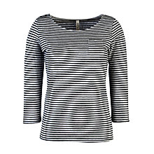 Buy People Tree Billie Pocket Stripe T-Shirt, Grey Melange Online at johnlewis.com