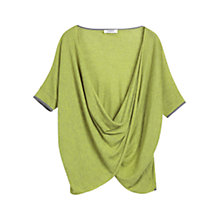 Buy Farhi by Nicole Farhi Cashmere Blend Stripe Cardigan, Zest/Grey Online at johnlewis.com