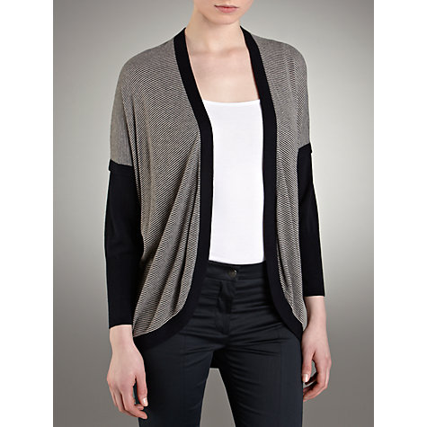 Buy Farhi by Nicole Farhi Cashmere Blend Striped Cardigan, Navy/Almond Online at johnlewis.com