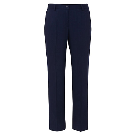 Buy Farhi by Nicole Farhi Cropped Linen Mix Trousers Online at johnlewis.com