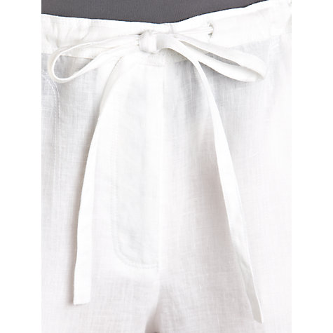 Buy Farhi by Nicole Farhi Linen Drawstring Trousers Online at johnlewis.com