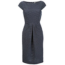 Buy People Tree Iris Jacquard Boat Neck Dress, Navy Online at johnlewis.com