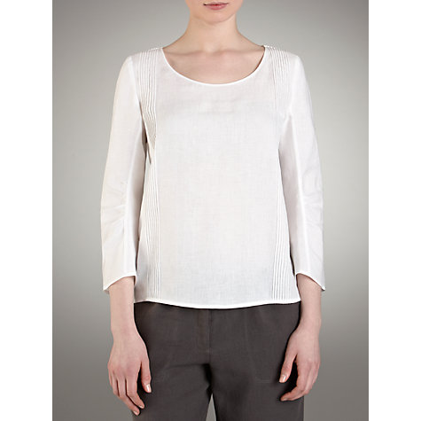 Buy Farhi by Nicole Farhi Linen Top, White Online at johnlewis.com