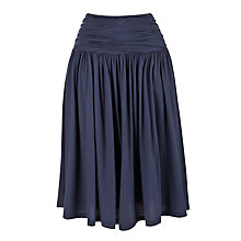 Buy Farhi by Nicole Farhi Ruched Jersey Skirt, Denim Online at johnlewis.com