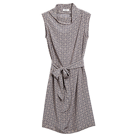 Buy Farhi by Nicole Farhi Silk Sleeveless Tile Print Dress, Graphite/Nude Online at johnlewis.com