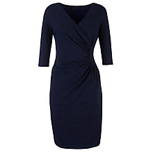 Buy People Tree Stella Fitted Leopard Print Dress, Navy Online at johnlewis.com