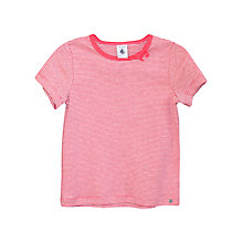 Buy Petit Bateau Girls' Striped Short Sleeved T-Shirt Online at johnlewis.com