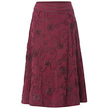 Buy White Stuff Blossom Skirt, Bordeaux Online at johnlewis.com