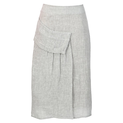 Buy Crea Concept Linen Blend Pocket Skirt, Silver Online at johnlewis.com