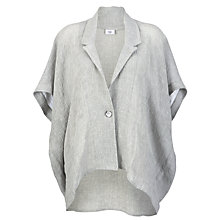 Buy Crea Concept Linen Blend Oversized Jacket, Silver Online at johnlewis.com