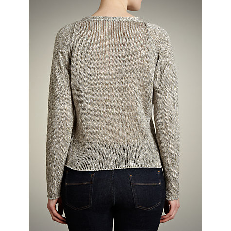 Buy Crea Concept Tape Yarn Jumper, Silver Online at johnlewis.com