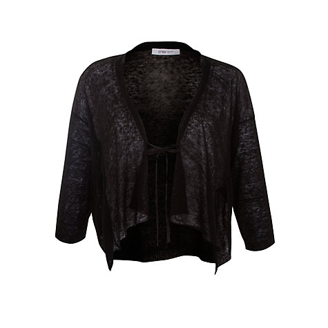 Buy Crea Concept Tie Front Cardigan, Black Online at johnlewis.com
