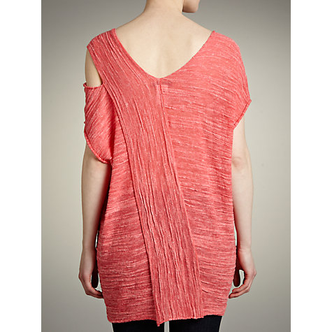 Buy Crea Concept Ribbed Slubby Oversized Tunic Top, Coral Online at johnlewis.com