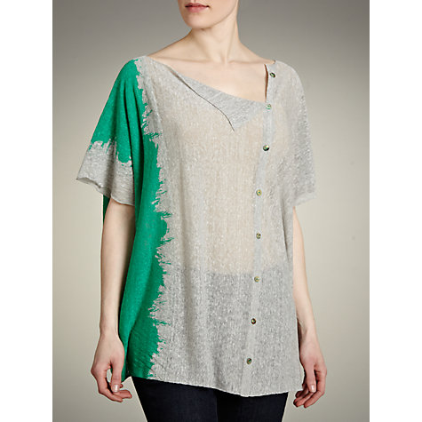 Buy Crea Concept Tie Dye Boxy Cardigan, Grey/Green Online at johnlewis.com