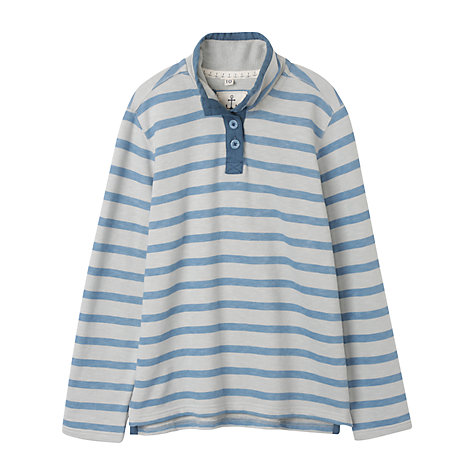 Buy Seasalt Rhythm Button Neck Top Online at johnlewis.com