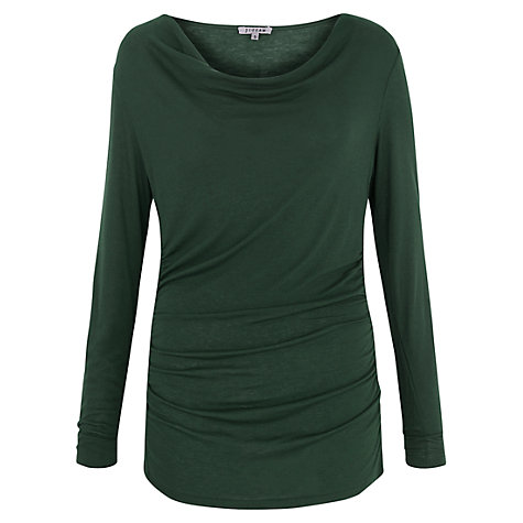 Buy Jigsaw Ruched Cowl Neck Jersey Top Online at johnlewis.com