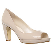 Buy Nine West Shipshape Peep Toe Court Shoes, Nude Online at johnlewis.com