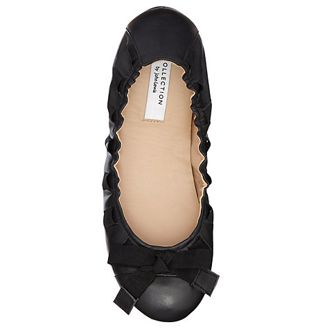 Buy COLLECTION by John Lewis Hilary Leather Elasticated Ballerina Pumps, Black Online at johnlewis.com