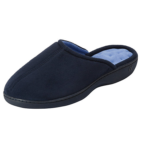 Buy Totes Pillowstep Mule Slippers, Navy Online at johnlewis.com