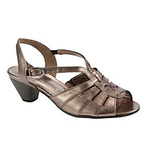 Buy Gabor Derwent Leather Strappy Sandals, Pewter Online at johnlewis.com