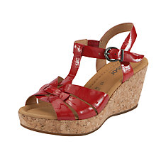 Buy Gabor Samos Patent Leather Cork Wedge Sandals Online at johnlewis.com