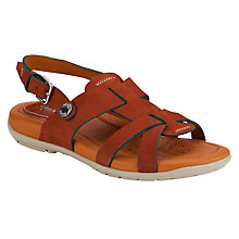 Buy Geox Footmark Leather Open Toe Sandals, Tan Online at johnlewis.com