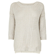 Buy Oasis Foil Textured Boxy Top, Multi Online at johnlewis.com