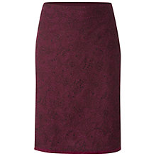 Buy White Stuff Cotton Reel Skirt, Bordeaux Online at johnlewis.com
