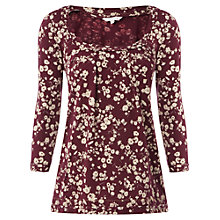 Buy White Stuff Laurel T-Shirt, Dark Bordeaux Online at johnlewis.com