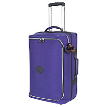 Buy Kipling Teagan 2-Wheel Duffle Bag, Flash Blue Online at johnlewis.com