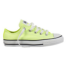 Buy Converse All Stars Neon Canvas Trainers, Yellow Online at johnlewis.com