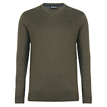 Buy Barbour Cotton/Cashmere V-Neck Jumper Online at johnlewis.com