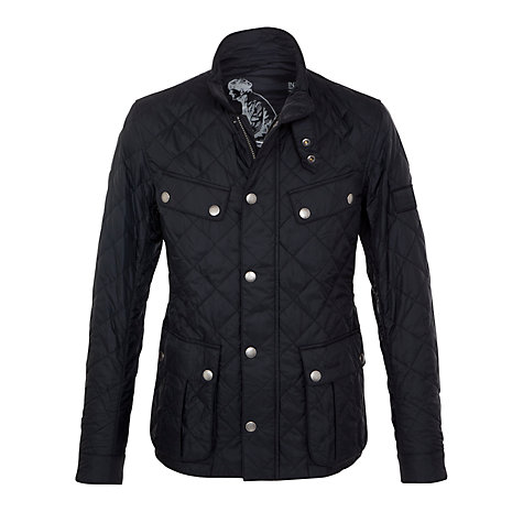 Buy Barbour International Ariel Quilted Jacket, Black Online at johnlewis.com