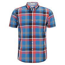 Buy Levi's Classic Check Short Sleeve Shirt, Blue/Red Online at johnlewis.com
