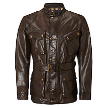 Buy Belstaff Panther Leather Biker Jacket Online at johnlewis.com