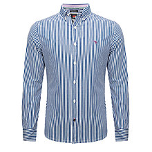 Buy Canterbury Stripe Long Sleeve Shirt, Blue/White Online at johnlewis.com