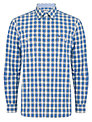 Barbour Check Long Sleeve Shirt, Blue/White