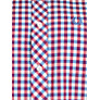 Buy Fred Perry Short Sleeve Gingham Shirt, Red/White/Blue Online at johnlewis.com