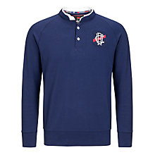 Buy Canterbury Treu Button Neck Jumper, Navy Online at johnlewis.com