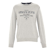 Buy Armani Jeans Logo Crew Neck Jumper Online at johnlewis.com