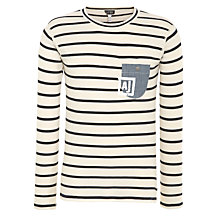 Buy Armani Jeans Breton Stripe Long Sleeve T-Shirt Online at johnlewis.com