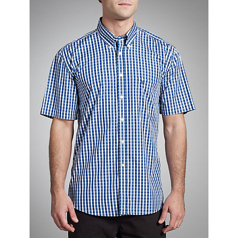 Buy Barbour Braystone Check Shirt, Blue Online at johnlewis.com