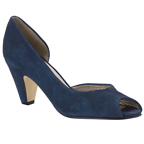 Buy John Lewis Iesko Suede Cone Heel Cutaway Court Shoes Online at johnlewis.com
