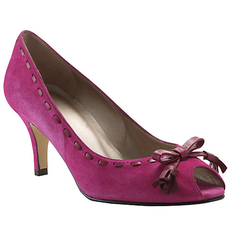 Buy John Lewis Nancy Suede Leather Stitch Trim Court Shoes Online at johnlewis.com