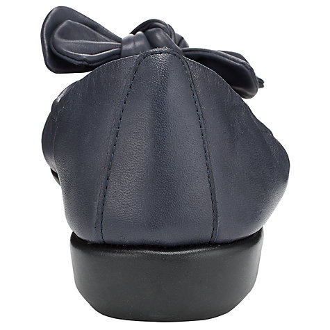 Buy John Lewis Designed for Comfort Peacock Leather Bow Trim Ballerina Pumps Online at johnlewis.com