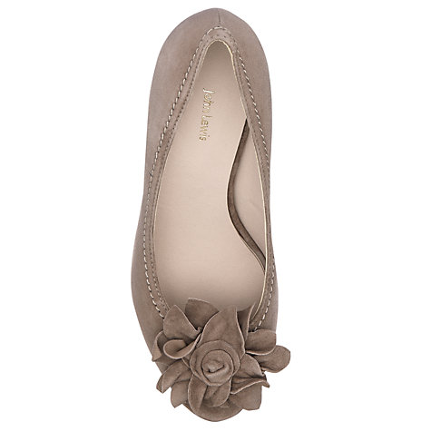 Buy John Lewis Suede Oprah Peep Toe Flower Court Shoes Online at johnlewis.com