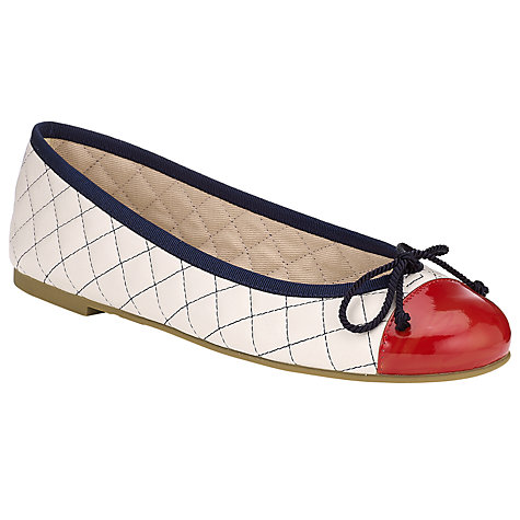 Buy Pretty Ballerinas Quilted Leather Patent Toe Cap Ballet Pumps Online at johnlewis.com