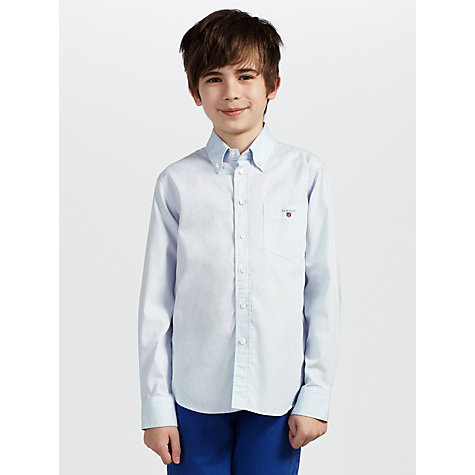 Buy Gant Boys' Pinpoint Oxford Long Sleeved Shirt Online at johnlewis.com